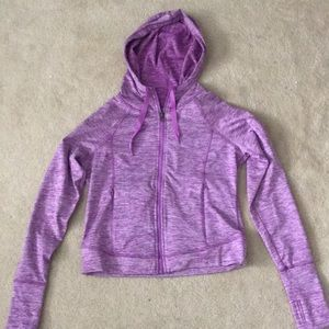 Purple work out jacket